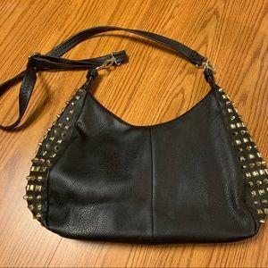 Handbags - MG Collection • Studded Oversized Shoulder Bag
